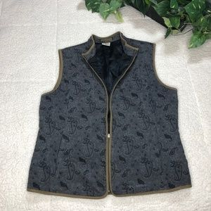 Columbia River Resort Paisley Print Women's Vest